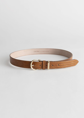 And other stories Croco Leather Belt