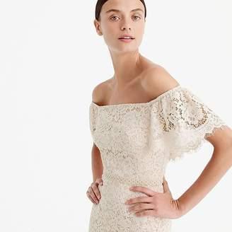 J.Crew Off-the-shoulder lace dress