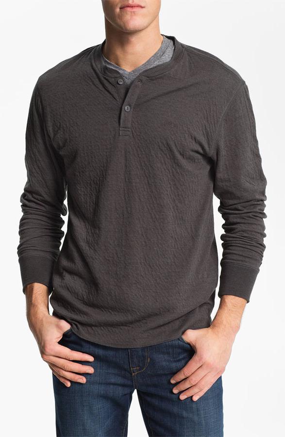 RVCA 'Logger' Knit Henley Shirt