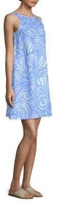 Vineyard Vines Nautulius Shell-Print Linen Swing Dress