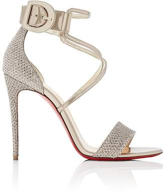 Christian Louboutin Women's Choca Specchio Leather & Mesh Sandals