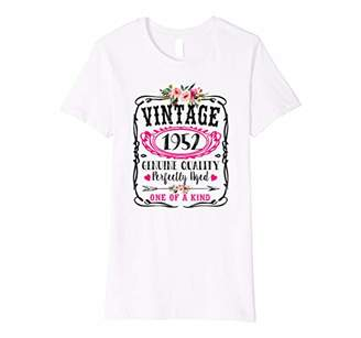 Womens Vintage 1952 Birthday Year Cute Floral Perfectly Aged Gift Premium T-Shirt