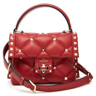 Valentino Candystud Mini Quilted Leather Cross Body Bag - Womens - Red