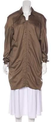 Zero Maria Cornejo Button-Up T-Shirt Dress