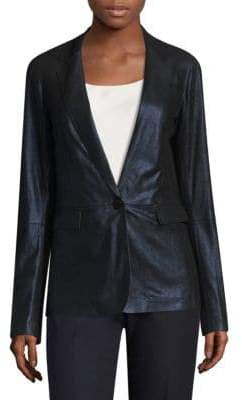 Lafayette 148 New York Lyndon Leather Blazer