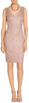 St. John Metallic Multi Eyelash Knit Dress
