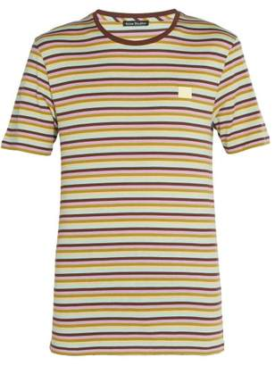 Acne Studios Nash Face Striped Cotton T Shirt - Mens - Multi