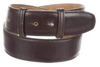 Alaia Black Leather Belt
