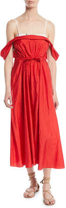 Brock Collection Davi Lightweight Taffeta Cocktail Dress