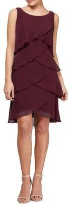 SL Fashions Tulip Tier Chiffon Dress