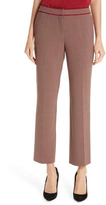 BOSS Taliviena Check Crop Suit Trousers