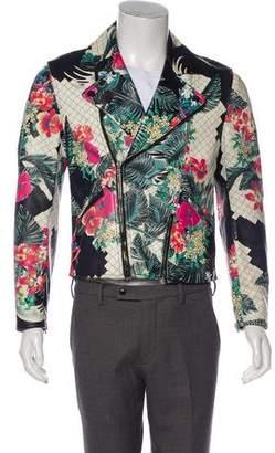 3.1 Phillip Lim Floral Print Lambskin Moto Jacket