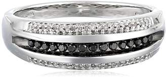 Sterling Silver Men's Diamond Band Ring (1/4 cttw)