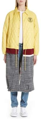 Undercover Mixed Media Quilted Coat
