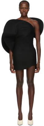 Saint Laurent Black Felt Bustier Dress