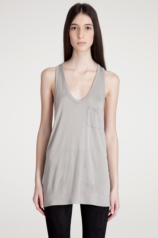 T by alexander wang CLASSIC MINI POCKET Tank