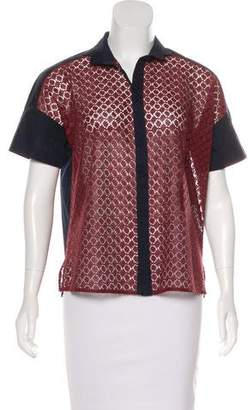 Barneys New York Barney's New York Lace Button-Up Top