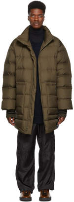 3.1 Phillip Lim Green Down Oversized Coat