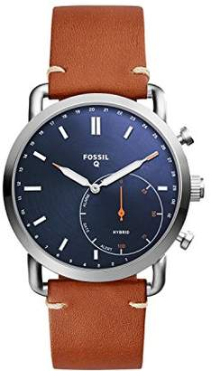 Fossil Q Men's Commuter Stainless Steel and Leather Hybrid Smartwatch