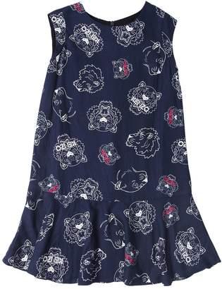 Kenzo Tiger Printed Viscose Dress