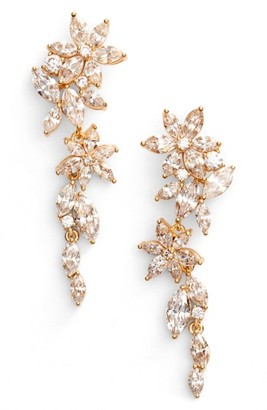 Women's Nadri Flower Linear Drop Earrings $130 thestylecure.com