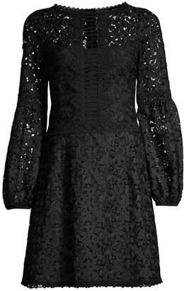Nanette Lepore Scenic Lace Fit-&-Flare Dress