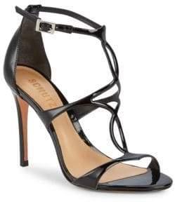 Schutz Rania Patent Leather Ankle-Strap Sandals