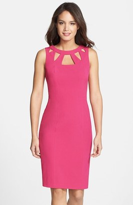 Women's Eliza J Cutout Detail Sheath Dress $98 thestylecure.com