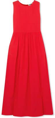 Jil Sander Silk-crepe Maxi Dress - Red