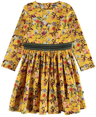 Molo Christin Floral Long-Sleeve Dress, Size 2T-14