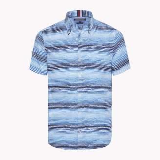 Tommy Hilfiger Watercolour Stripe Short Sleeve Shirt