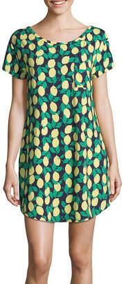 Liz Claiborne Short Sleeve Tropical Nightshirt