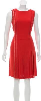 J. Mendel Silk Sleeveless Knee-length Dress