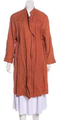 Dries Van Noten Long Brocade Coat