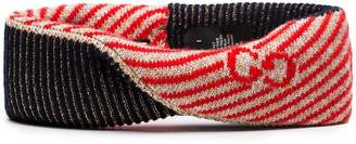 Gucci Multicoloured knitted glitter headband