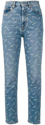 Heron Preston all-over print cropped jeans
