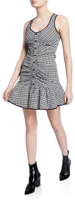 Parker Yael Sleeveless Check Flounce Dress