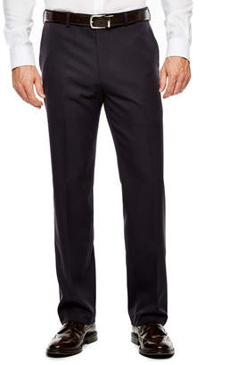 Van Heusen Men's Straight-Leg Traveler Flat-Front Chevron Dress Pants