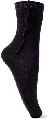 Brunello Cucinelli Bead-Embellished Cashmere-Blend Socks