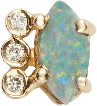 Jacquie Aiche Diamond Opal Marquise Stud