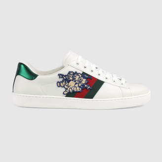 Gucci Men's Ace sneaker with Three Little Pigs