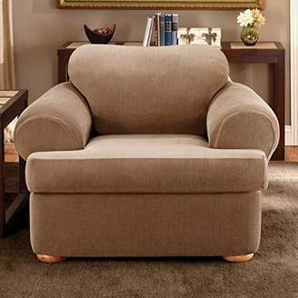 Sure Fit Stretch Stripe T-Cushion Armchair Slipcover