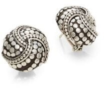 John Hardy Dot Sterling Silver Button Earrings