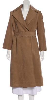 Halston Belted Long Coat