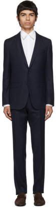 BOSS Navy Virgin Novan Ben Check Suit