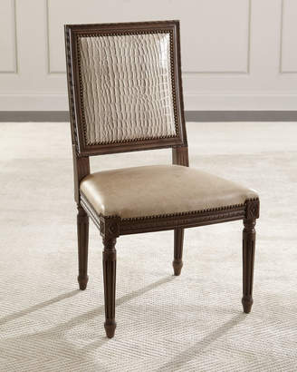Massoud Louis Leather Dining Chair
