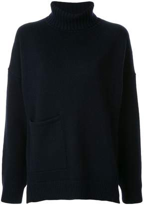 Tibi patch pocket jumper
