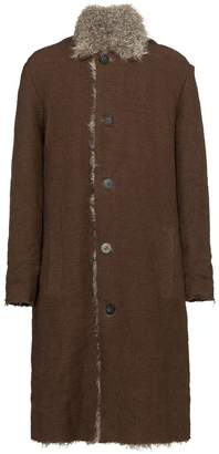 By Walid single-breasted shearling coat