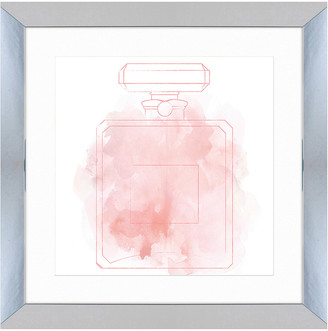Vintage Print Gallery Blushing Perfume Bottle I Framed Print