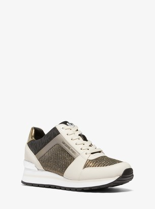 MICHAEL Michael Kors Billie Chain-Mesh and Leather Trainer